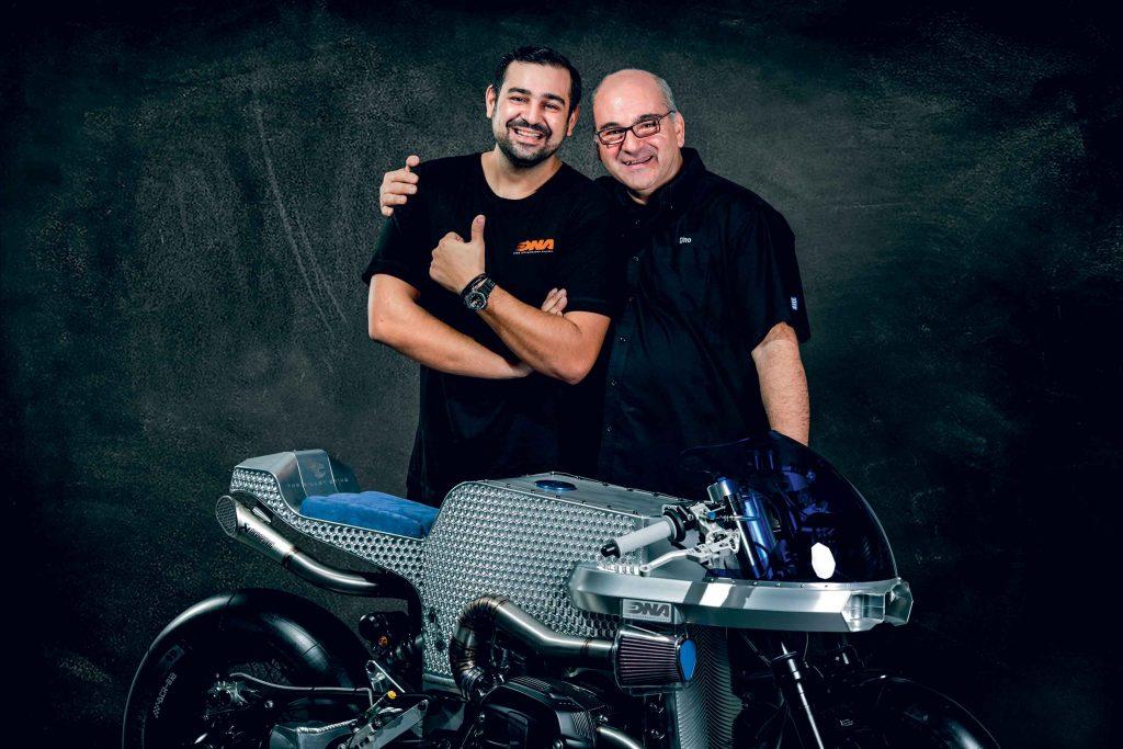 Dino e Marios Nikoladis, padre e figlio, anime del marchio ateniese DNA HIGH PERFORMANCE FILTERS.